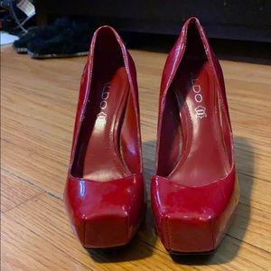 Red Platform Heels